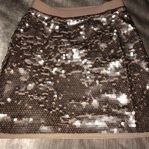 BCBG champagne sequin skirt